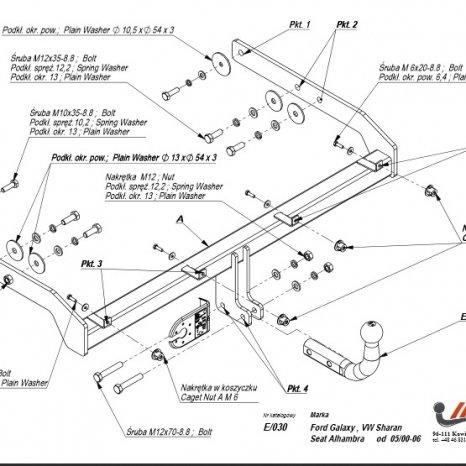 Carlig Remorcare Volkswagen Sharan 2000-2010