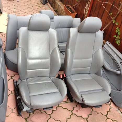 Interior BMW E46 sport Recaro full piele gri,lombar electric