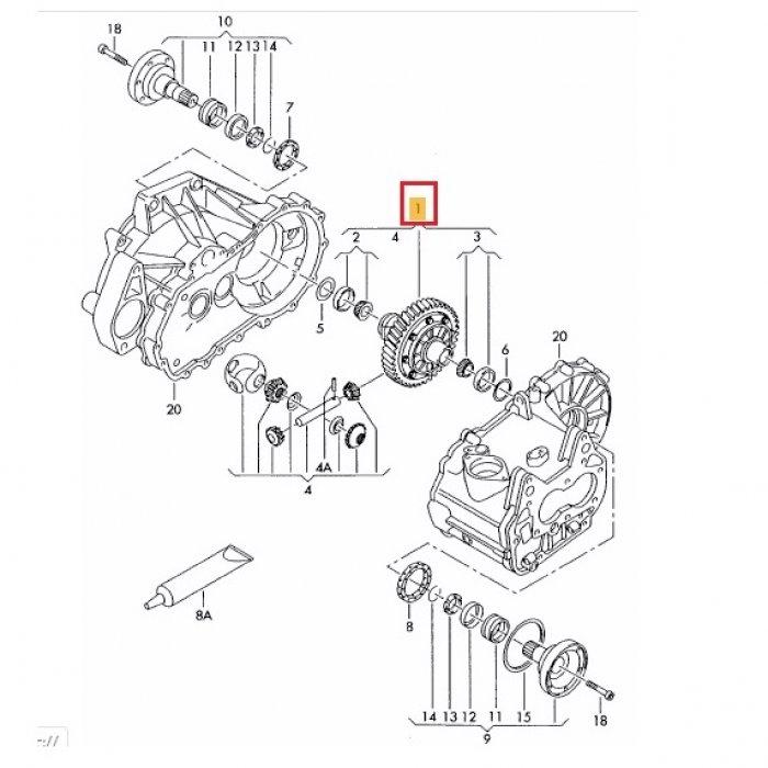 Diferential - cutie de viteze VW Caddy 2.0 SDI 2006 5 trepte