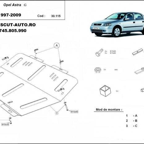 Scut motor metalic Opel Astra G