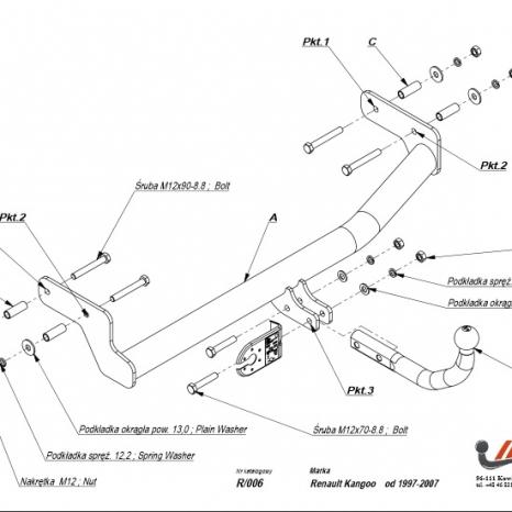 Carlig Remorcare Renault Kangoo 1997-2008