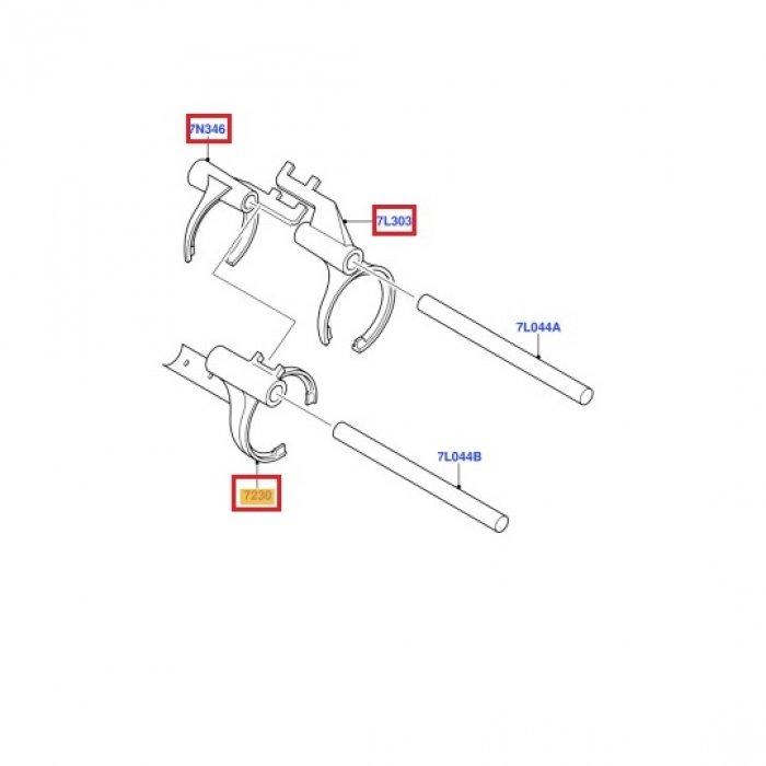 Furca viteza 1,2,3,4,5,R, cutie de viteze Ford Transit 2.2 2006-2014 5 trepte VXT75