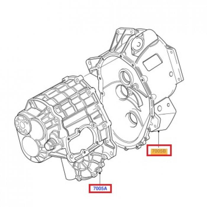 Carcasa cutie de viteze Ford Transit 2.2 tdci 2006-2014 5 trepte VXT 75