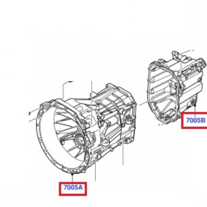 Carcasa fata-spate cutie de viteze manuala Ford Transit MT82 2006-2014, 6 trepte