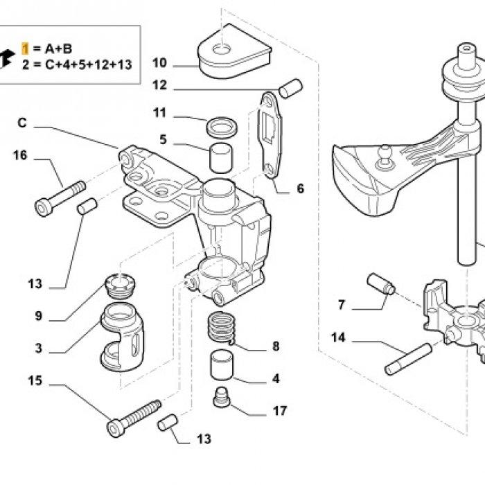 Selector, levier interior timonerie, ansamblu cautator - cutie de viteze Fiat Ducato 2.3 2006 MLGU