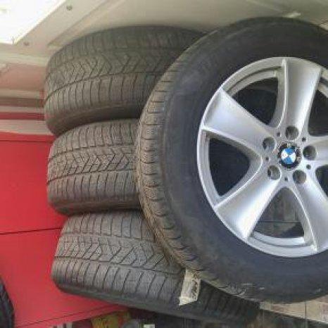 jante aliaj BMW X5 cu cauciucuri de iarna