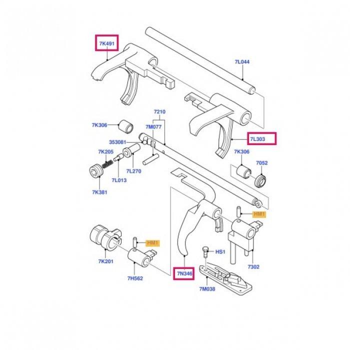 Furca viteza 1,2,3,4,5,R pt cutie de viteze manuala Ford transit MT75 2006-2014 5 trepte