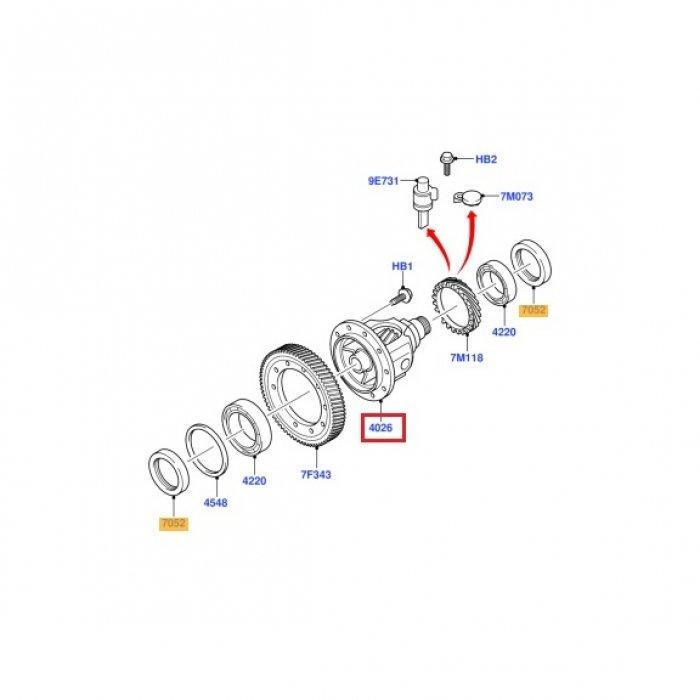 Diferential cutie de viteze Ford Transit 2.2 tdci 2006-2014 5 trepte VXT75