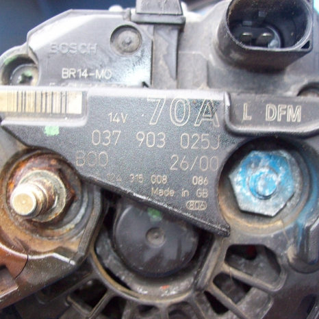alternator vw, audi, seat, skoda, 70A