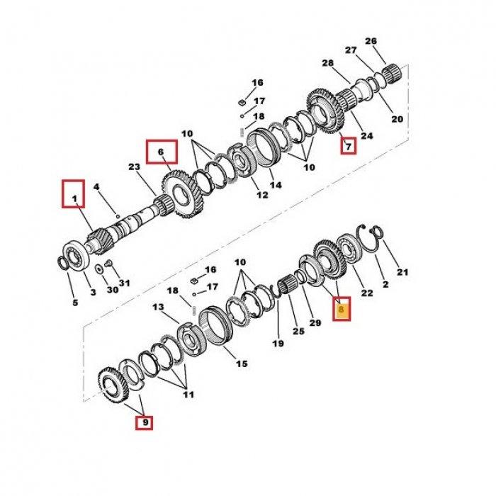 Arbore secundar, pinion receptor-cutie de vieteze manuala Peugeot 4007 2.2 HDI 4x4 6 trepte