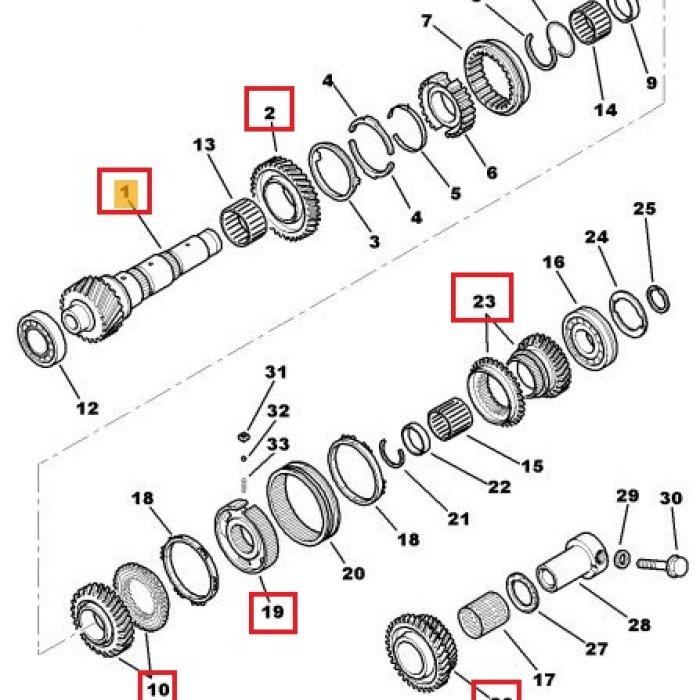 Sincronizator, arbore secundar, pinion receptor - cutie de viteze 1peugeot 4007 2.2 HDI 4x4 6 trepte