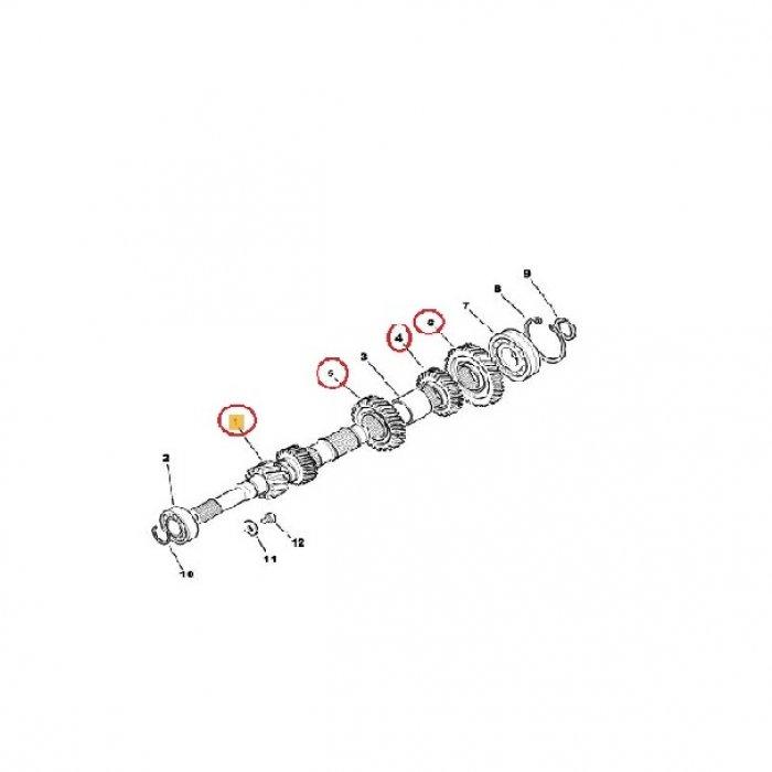 Arbore primar, pinion receptor - cutie de vieteze manuala Peugeot 4007 2.2 HDI 4x4 6 trepte