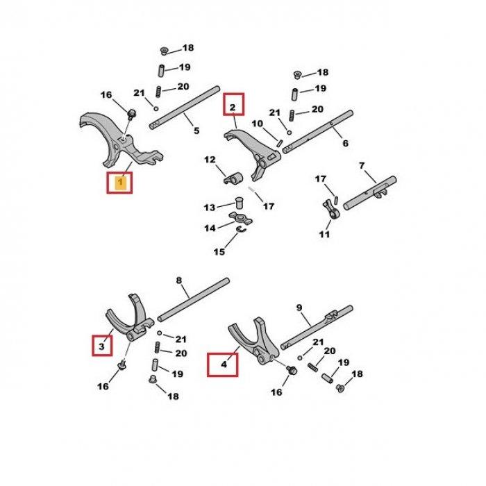 Furca viteza 1,2,3,4,5,6,R - cutie de viteze manuala Peugeot 4007 2.2 HDI 4x4 6 trepte