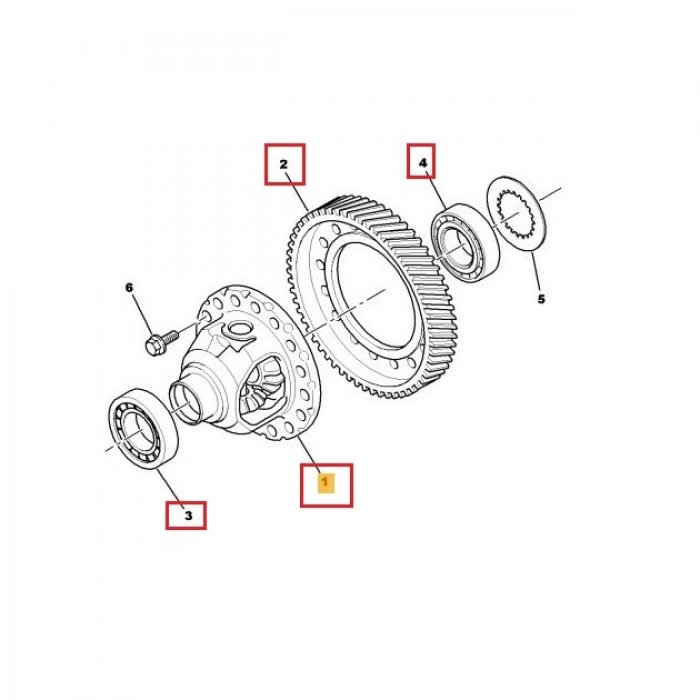 Diferential, coroana, rulment diferential - cutie de viteze manuala Peugeot 4007 2.2 Hdi 4x4 6 trepte