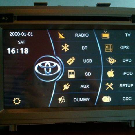 Navigatie Toyota Avensis 2009-2013
