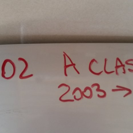 Haion Mercedes A class facelift, an 2001-2004