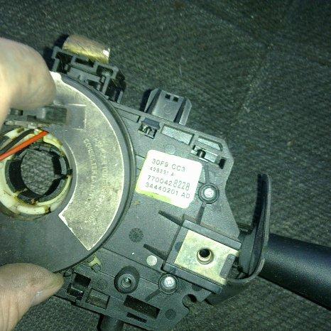 bloc lumini cu spira airbag renault megane 1 an 2002