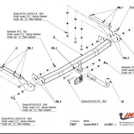 Carlig Remorcare Toyota RAV4 2006-2013