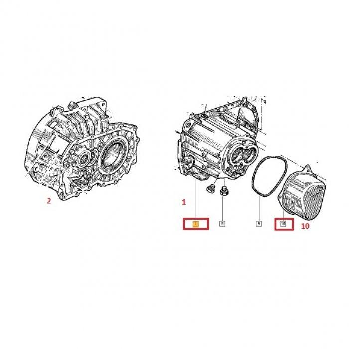Carcasa, capac -cutie de viteze manuala Renault Kangoo 1.5 DCI 5 trepte
