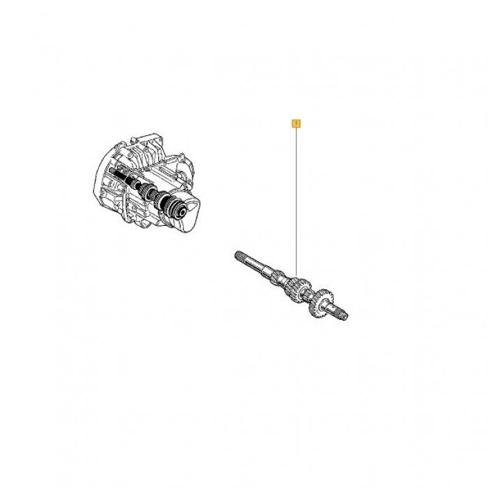 Arbore principal - cutie de viteze manuala Renault Kangoo 1.5 DCI 5 trepte