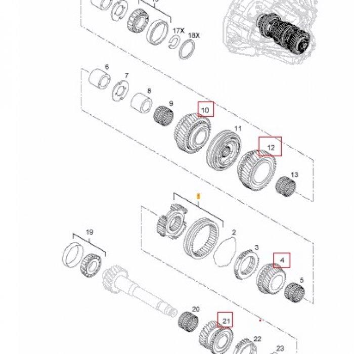 Pinion viteza 1,2,5,6 - cutie de viteze manuala Opel Vivaro X83 1.9 DCI 2001-2014