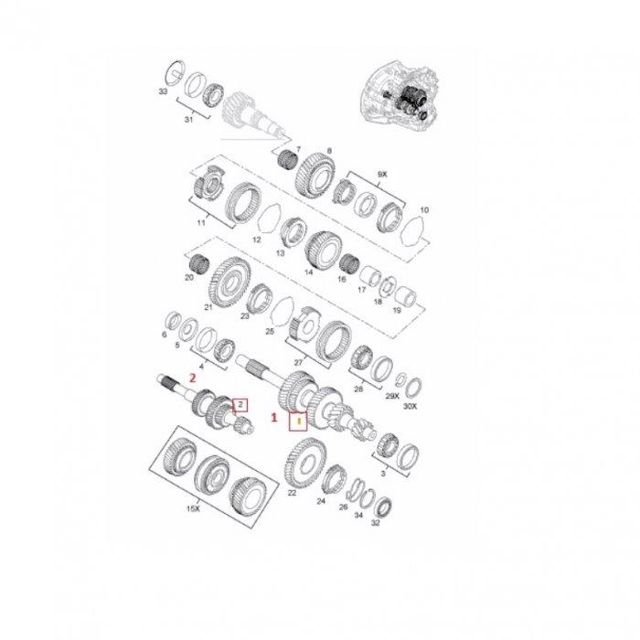 Arbore cu roata, input - cutie de viteze manuala Opel Vivaro 5-6 trepte X83 1.9 DCI 2001-2014