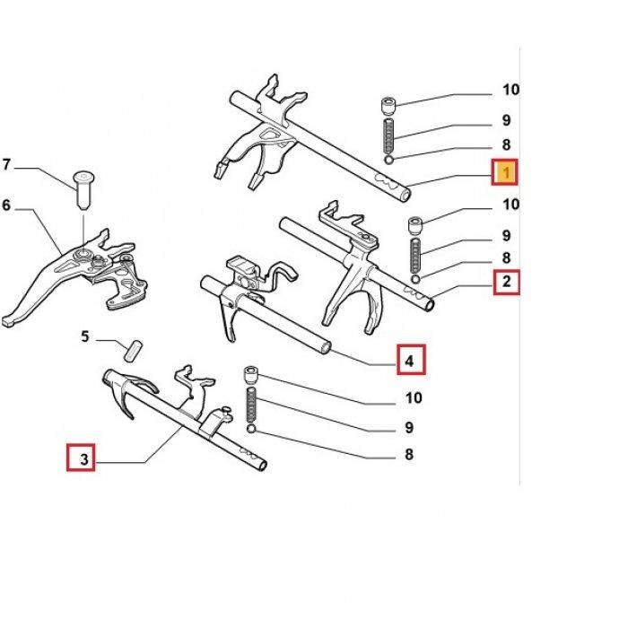 Furca viteza 1,2,3,4,5,6,R - cutie de viteze manuala Fiat Ducato 2.3 MLGU 2006 6 trepte