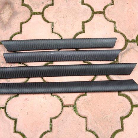 Trimuri interioare usi aluminiu Black Cube BMW E46
