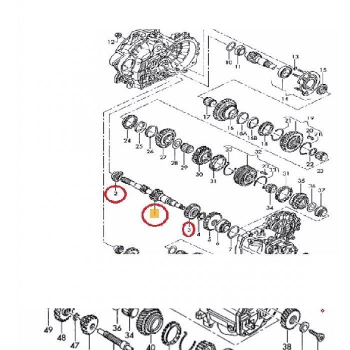 Arbore cutie viteze manuala T4 , Pinion viteza a 3-a pentru cutie de viteze manuala T4 2003