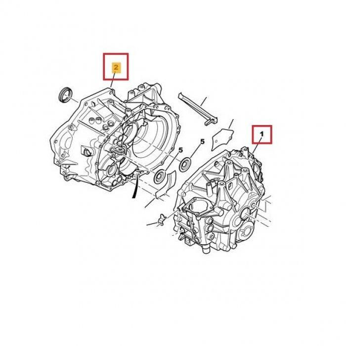 Carcasa cutie de viteze, ambreiaj, Citroen C-Crosser 4x4 2.2 HDI 6 trepte