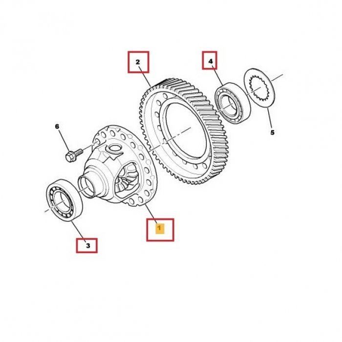 Diferential, coroana, rulment diferential - cutie de viteze manuala Citroen C-Crosser 2.2 Hdi 4x4 6 trepte