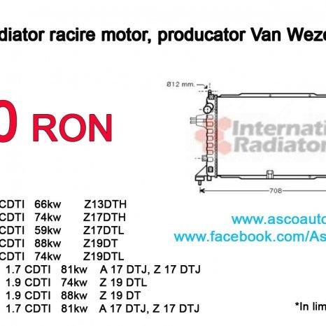 Radiator racire motor, producator Van Wezel - Nou