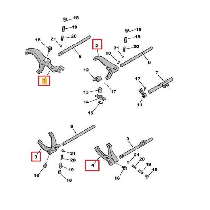 Furca viteza 1,2,3,4,5,6,R - cutie de viteze manuala Citroen C-Crosser 2.2 HDI 4x4 6 trepte
