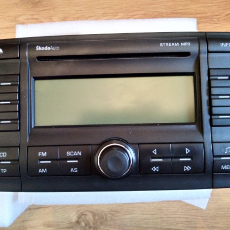 Skoda Auto Radio Stream MP3 1Z0 035 161 C