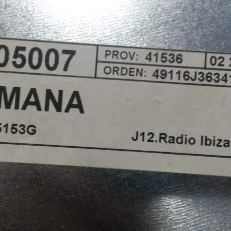 Radio Cd Volkswagen 7H0035156A