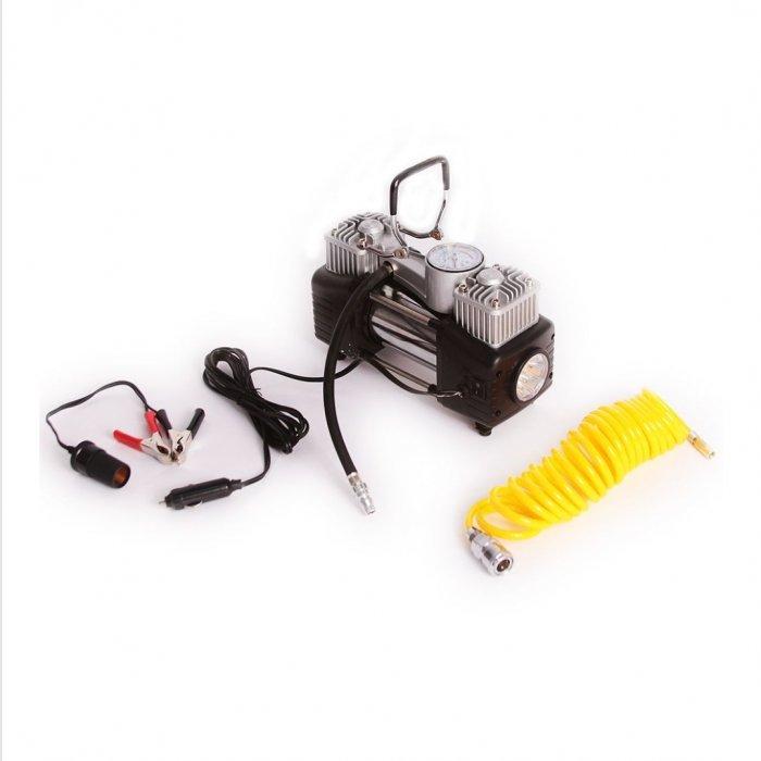 Compresor auto 2 cilindri 4x4 200 PSI, 60 l/min cu iluminare
